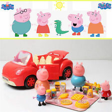 Hot Peppa Pig Red Car Vehicle Toy with Action Figure Peppa George Daddy Mummy