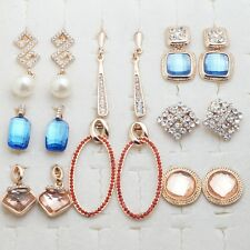 Wholesale 8 Pcs/Lot Pretty Jewelry Cubic Zircon Gold Plated Lady Mixed Earrings