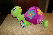 LISA FRANK Turtle Peekaboo Large Plush Purple W/ Flowers 90s