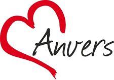 """Auto Aufkleber """" ANVERS """" Antwerpen Sticker Stadt Belgien ca.9x12cm konturges."""