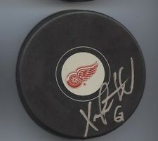 XAVIER OUELLET SIGNED DETROIT RED WINGS HOCKEY PUCK w/ COA