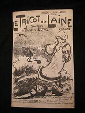 Partition Le tricot de laine Théodore Botrel Kerneis Music Sheet