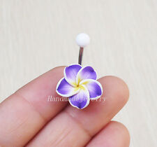 2pcs Flower belly button ring belly button piercing navel ring body jewelry