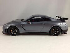 GT Spirit Nissan GT-R R35 Nismo Silver Grey w/ Carbon Fiber Resin Car Model 1/18