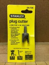"Vintage Stanley Plug Cutter Wood Working Cabinet Maker 1/2 ""Hole Size 04-726 NOS"