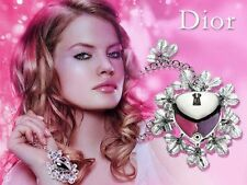 100% AUTHENTIC Exclusive DIOR PRETTY JEWEL CRYSTAL Lipstick HEART LOCKET CHARM