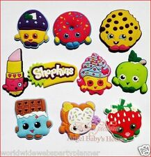 New Lot Of 8 Assorted Shopkins Shoe Charm For Crocs Birthday Party Favors