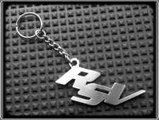 KEYRING for APRILIA RSV MILLE R - STAINLESS STEEL - HAND MADE - CHAIN LOOP FOB