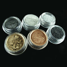 6pcs Eyeshadow Black, Brown, Silver Color Pigment/ Glitter