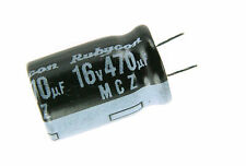 10pcs Rubycon MCZ 470uF 16v 105c Radial Electrolytic Capacitor Low ESR