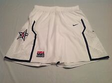 Nike Team USA Basketball Authentic White Mens Shorts Size 40 Medium Made in USA