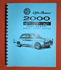 Alfa Romeo 1958-1962, 102 Series Shop Manual, 1985 reprint