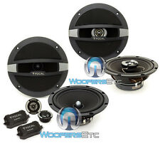 "pkg FOCAL 6.5"" R165S2 COMPONENT CROSSOVERS TWEETERS + R165C COAXIAL SPEAKERS NEW"