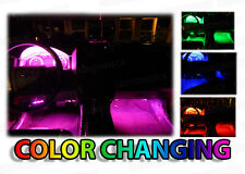 4pc 18 Color Custom LED Neon Interior Car Accent Glow Footwell LED Lighting Kit
