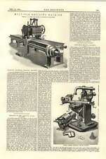 1894 Multiple Drilling Machine Cunliffe Croom Manchester Ludwig Loewe Milling