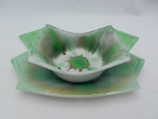 **RARE** SHELLEY ART DECO BOWL & UNDERPLATE