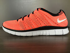 NEW Nike FREE FLYKNIT NSW RUNNING SHOES Size 11 $150 599459 800 HOT LAVA