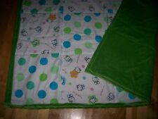 HELLO KITTY handmade QUILT/THROW 100%cotton & cot/poly fabric w/mink back 46x67