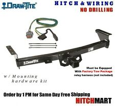 TRAILER HITCH & WIRING FOR 2005-2016 NISSAN FRONTIER PICKUP WITH FACTORY TOW PKG