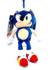"Licensed Sega 8"" Sonic the Hedgehog Plush Doll Keychain Coin Bag"