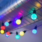 20 LED FESTOON GLOBE FAIRY STRING LIGHTS OUTDOOR GARDEN WEDDING PARTY 7M 240V
