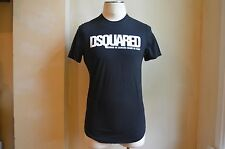 DSQUARED² COOL BLACK COTTON WHITE DSQUARED LOGO SIGNATURE PRINT T SHIRT S M SALE