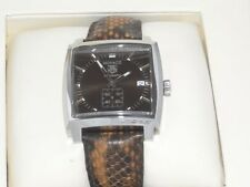 Tag Heuer Monaco Automatic WW2115 With Python Strap Men's Watch