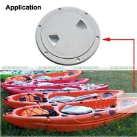 """6"""" inch Round Deck Inspection Hatch W/ Detachable Cover White for Boat Ship"""