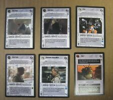 Star Wars CCG set of 6 Light Side Character/Creature Cards, Uncommon, Mint