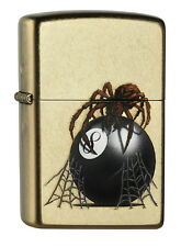 Zippo Eight Ball with Spider 60000649 Spring 2015 Street Chrome