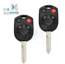 2 Uncut Key Remote 4 Button 80 Bit Head Keyless Entry for Ford 2005-2014 Mustang