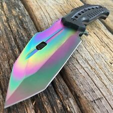CS GO RAINBOW FADE Fixed Blade HUNTSMAN KNIFE Hunting Tactical Bowie Survival