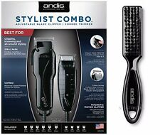 Andis Stylist Combo #66280 Black Envy Clipper & T-Outliner Trimmer +Combs +Brush