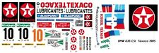 #10 BMW 635 CSI Texaco 1985 1/24th - 1/25th Scale Decals