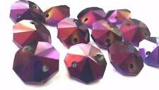 50 Golden Plum Octagon Chandelier Crystal Iridescent Purple Beads Prisms