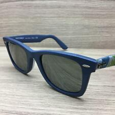 Ray Ban RB 2140-F Wayfarer Sunglasses Blue Camouflage 1154/40 Authentic 52mm