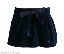 NEW Abercrombie & Fitch Womens Skirt SHEA Velvet Belted Mini Navy Blue Sz 6 $78