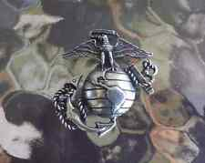 ONCE A MARINE ALWAYS A MARINE U.S.A. SERVICEMEN 1 LARGE MARINE CORP PEWTER PIN