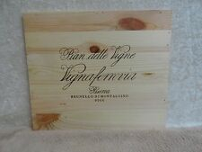 PIAN DELLE VIGNE VIGNA LARGE  WOOD WINE PANEL END