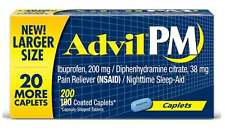 Advil PM Pain Reliever (NSAID) Nighttime Sleep Aid 200 Caplets