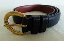 COACH Women's Black Leather Belt with gold tone solid brass buckle Size M