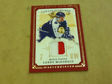 ^ 2008-09 Lanny McDonald Upper Deck Masterpieces Canvas Clipping Red #6/10 Card