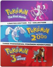 POKEMON MOVIES 1-3: COLLECTION - BLU RAY - Region A - Sealed