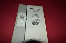 John Deere 100B One Row Side Dressing Attachment Operator's Manual DCPA3