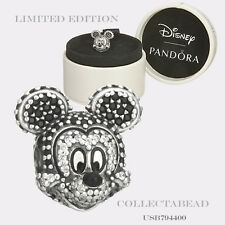 Authentic Pandora Silver Sparkling C.Z Mickey Portrait Bead 794400 791795NCK