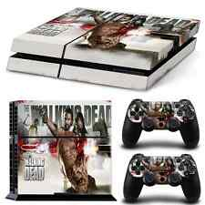PS4 Skin Playstation 4 Console Skin Decal Sticker The Walking Dead Edition Set
