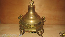 ANTIQUE OTTOMAN BRASS COPPER 3 PIECE VERY LARGE INCENSE BURNER
