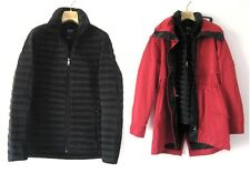 NWT ARMANI EXCHANGE A/X WOMEN'S RED/BLACK DOWN JACKET/TRENCH COAT 2PC Sz-S $380