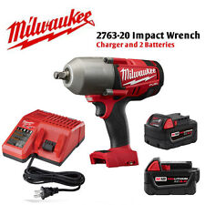 """Milwaukee 2763-22 18V 1/2"""" Impact Wrench (2) 5.0Ah Batteries and Charger NEW"""