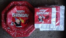 Lot of Ziggy Theme Birthday Party Paper Plates Napkins Jazz Music Musician